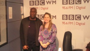 Barry Lawes with Michelle Dawes at BBC Radio WM 27.9.15